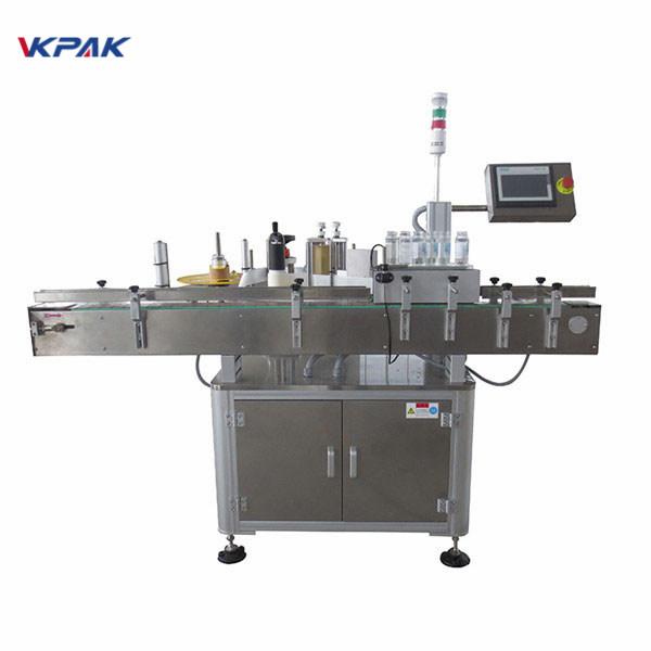 מכונת מוליך תווית מדבקה אוטומטית לבקבוק בירה 220V 1.5H