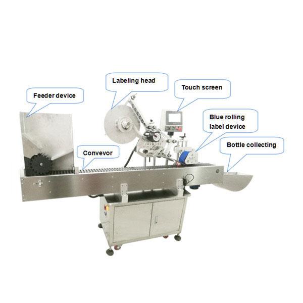 מכונת מוליך אוטומטית מלאה לתווית בקבוקים עם תעודת CE