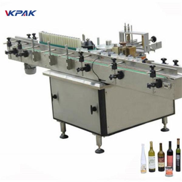 הדבקת מכונת מוליך תוויות דבק וקרה לבקבוקים שונים אוטומטית