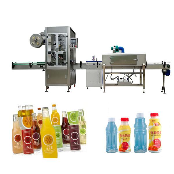 מכונת תיוג שרוול בקבוק לחיות מחמד עם מנהרת כיווץ