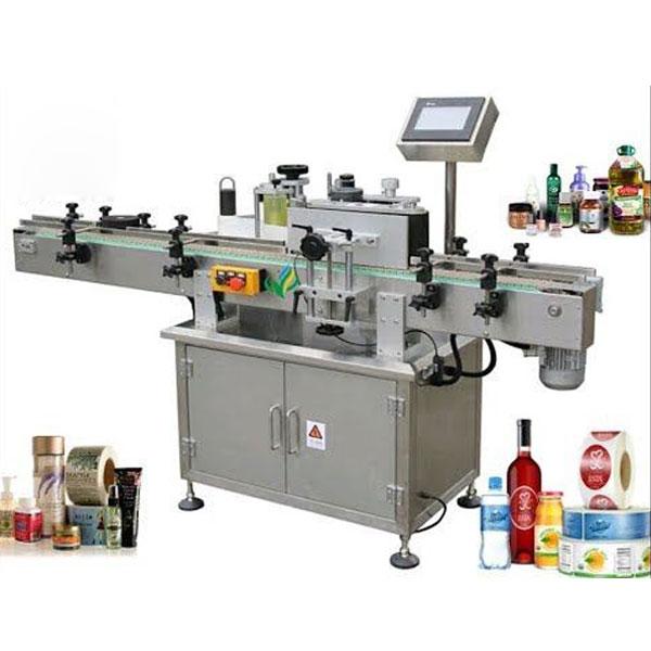 מכונות תיוג בקבוקים עגולות, עוטפות את מוליך התוויות