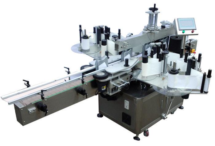 SUS304 מכונת תיוג מדבקת צדדית כפולה מפלדת אל-חלד