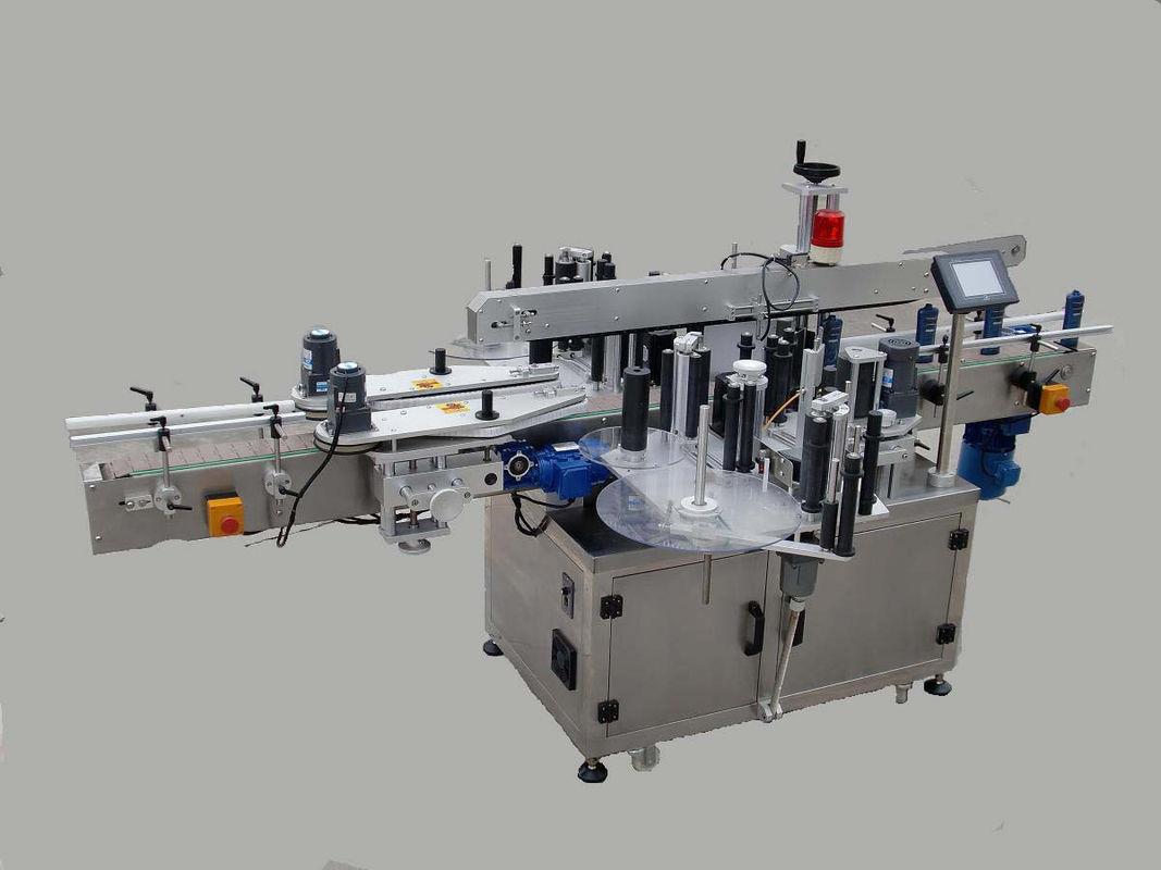 מכונת תיוג מדבקה צדדית כפולה אוטומטית עם מכשיר החלפה ומכונת קידוד