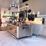 מכונת תיוג בקבוקים מרובעת עם תוויות מדבקות דו צדדיות