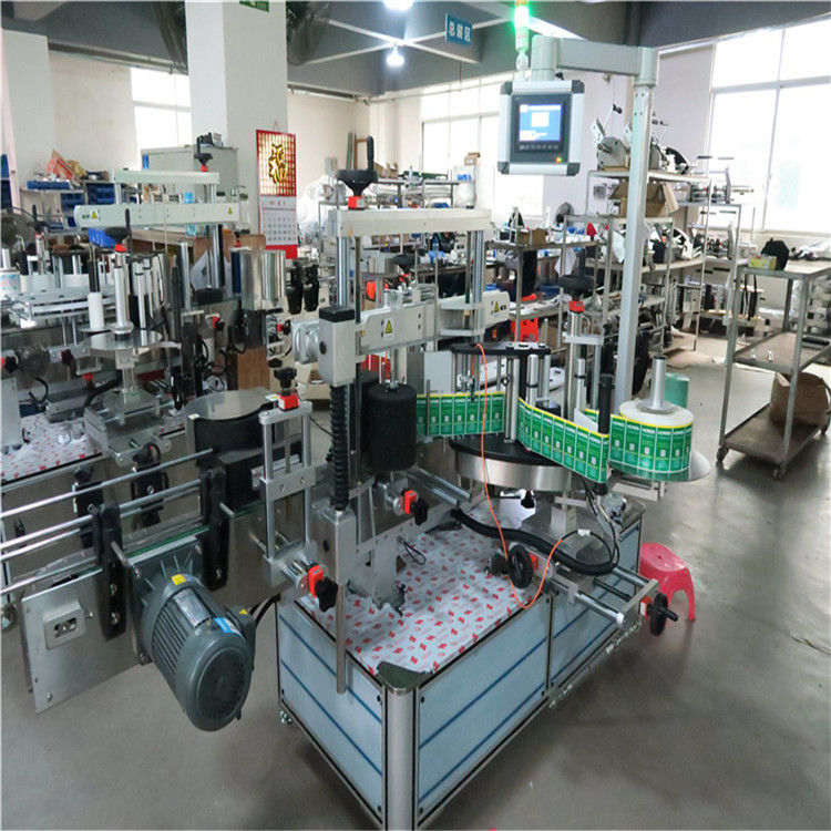 מכונת תוויות בקבוקים מרובעים של תווית מדבקה אוטומטית