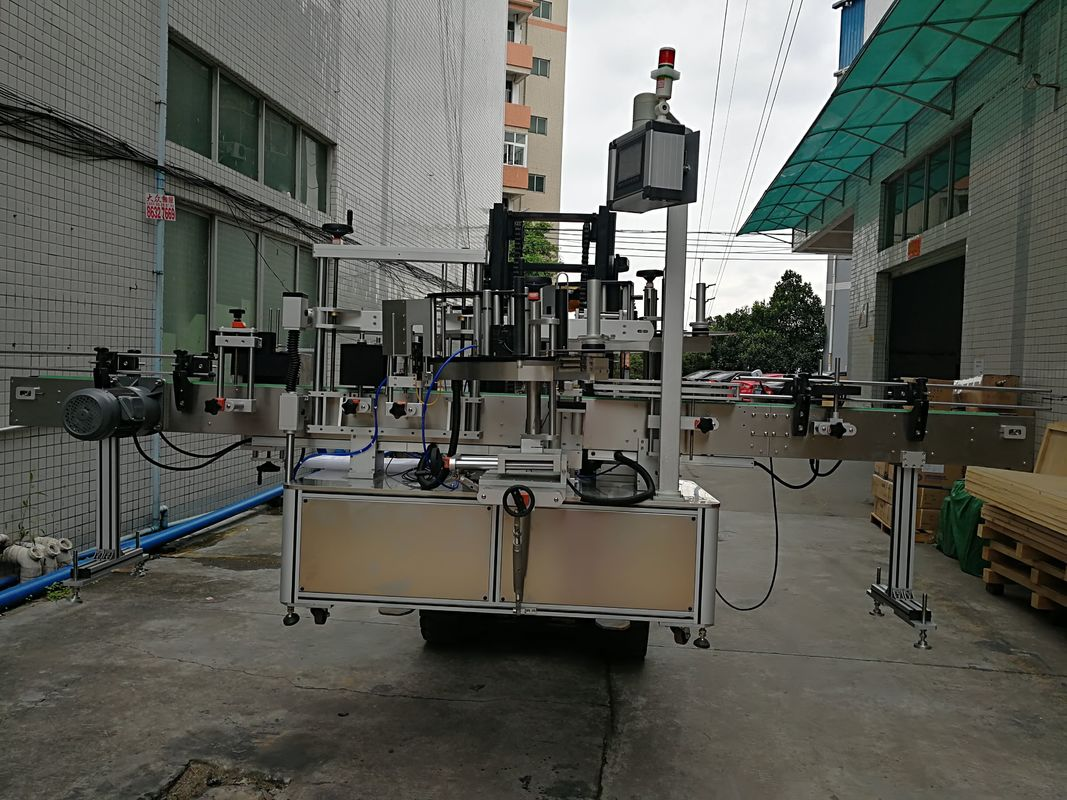 מדבקת תוויות מכונת תוויות אוטומטית לצד כפול צדדי לצנצנת פלסטיק