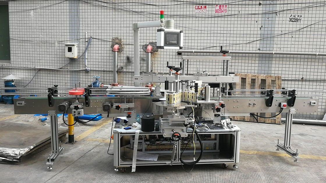 מכונת תיוג בקבוקים מרובעים דבקים אוטומטית צד כפול
